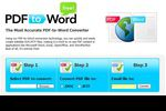PDF to Word Free : convertir des PDF en documents TXT ou DOC