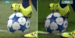 PES 2016 - comparatif PS4 PC - 1