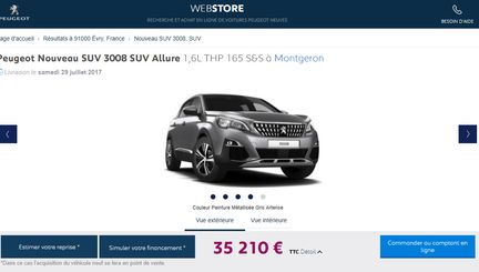 peugeot webstore achetez votre voiture en ligne. Black Bedroom Furniture Sets. Home Design Ideas