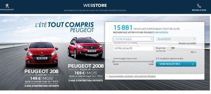 peugeot webstore achetez votre voiture en ligne