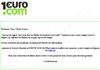 Tentative de phishing ciblant les usagers du site 1euro.com