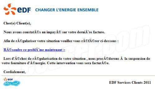 Phishing EDF