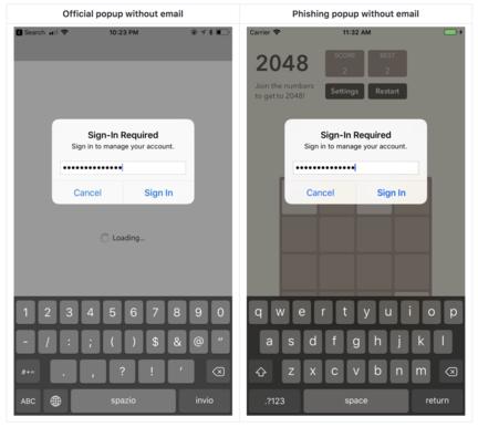 Phishing iPhone