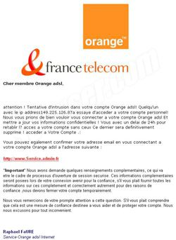 Phishing Orange mai 2009 Phishing Orange mai 2009