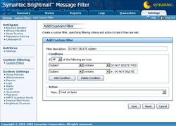 Symantec Brightmail Message Filter