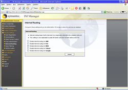 Symantec IM Manager interface