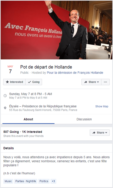 Piratage Facebook Hollande