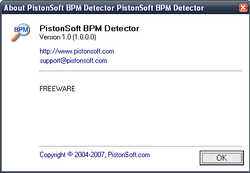 Pistonsoft BPM Detector screen1