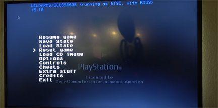PlayStation Classic menu caché