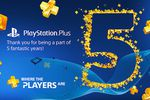 PlayStation Plus 5 ans