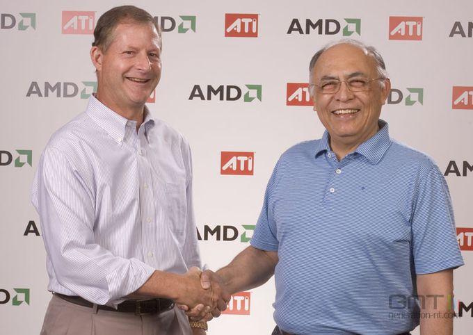 Poignée de mains des PDG de AMD/ATI