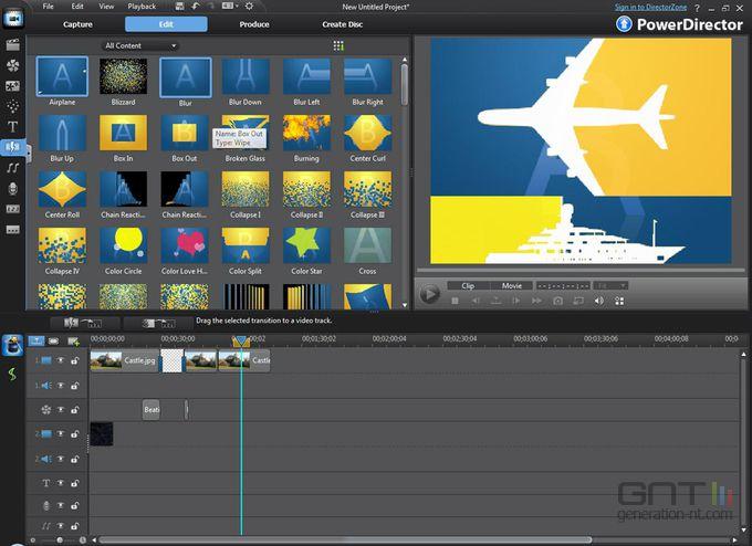 Power Director 9 Ultra screen 1