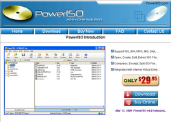 PowerIso screen 1