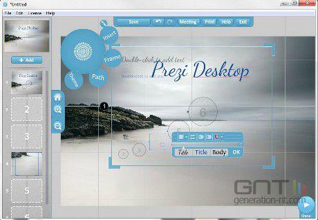 Prezi Desktop screen1