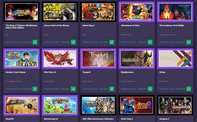 Prime Gaming : les jeux gratuits de mars