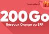 Forfait mobile Giga Serie : jusqu'à 200 Go à partir de 12,99 € sur réseau Orange ou SFR