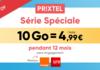 Forfait mobile Prixtel : 10 Go à 4,99 €/mois pendant 1 an sur Orange et SFR