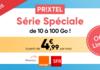 Bon plan : le forfait mobile Prixtel ajustable de 10 à 100 Go à partir de 4,99 € (tout illimité, roaming 9 Go)