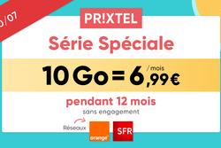 Forfait mobile ajustable Prixtel : 10 Go à 6,99€ sur réseau Orange ou SFR