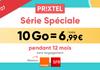 Votre forfait mobile 10 Go sur Orange ou SFR pour 6,99€ avec Prixtel