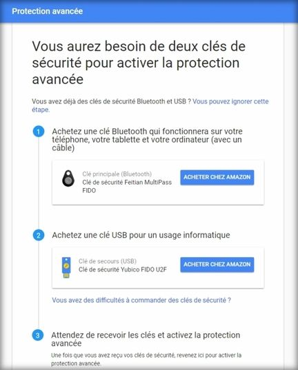 Protection avancée Gmail