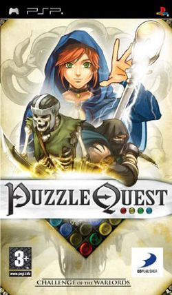 Puzzle Quest Challenge of the Warlords jaquette PSP int