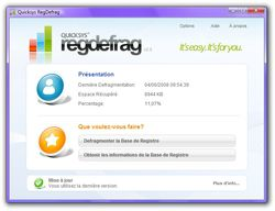 Quicksys RegDefrag screen 2