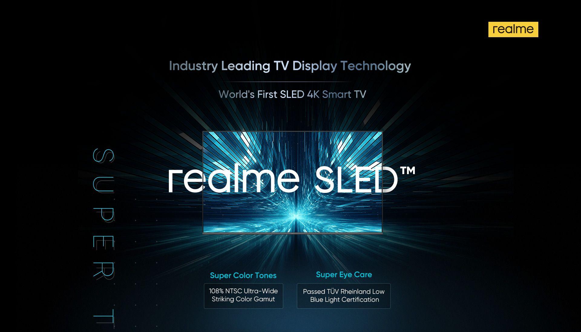 Realme (OPPO) annonce le premier téléviseur à technologie SLED