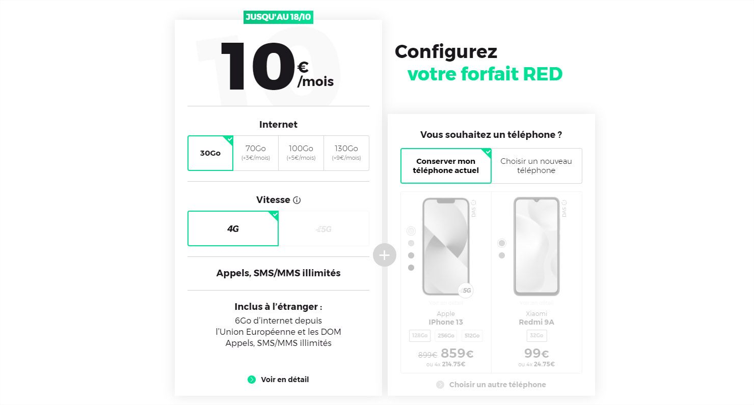 RED by SFR forfait 10