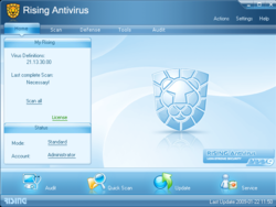 Rising Antivirus screen