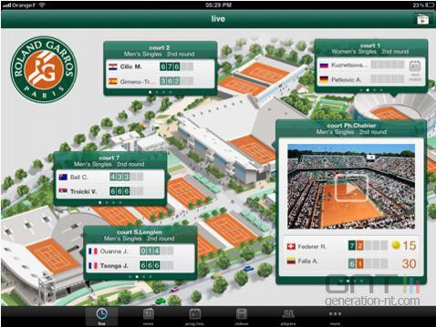 Roland Garros 2011 iPad 01