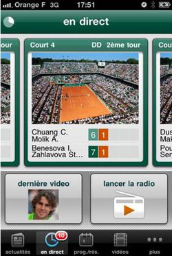 Roland Garros 2011 iPhone 01
