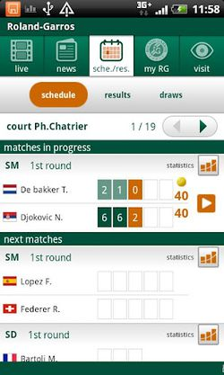 Roland Garros 2012 Android 2