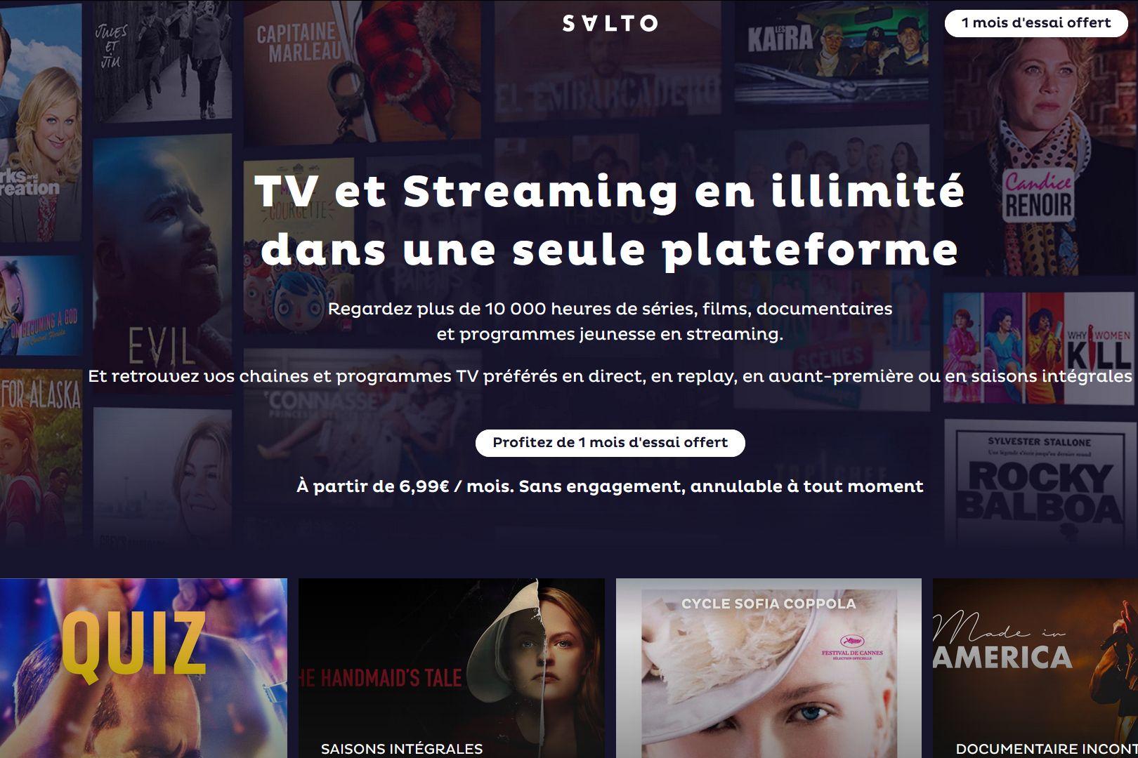 Salto : un lancement le 20 octobre et un prix de 6,99 € à 12,99 € par mois - MàJ 2