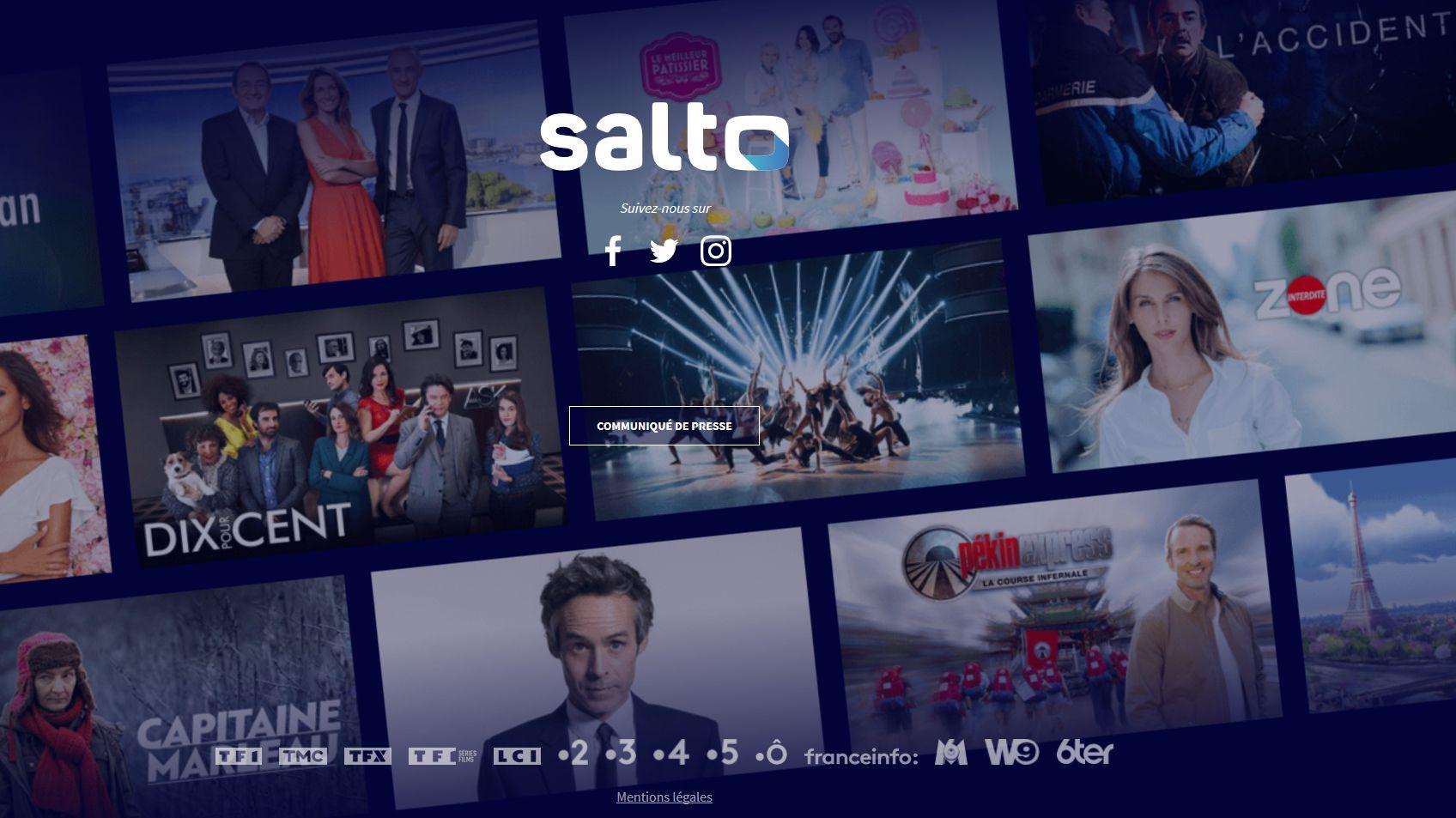Salto : un lancement le 20 octobre et un prix de 6,99 € à 12,99 € par mois - MàJ