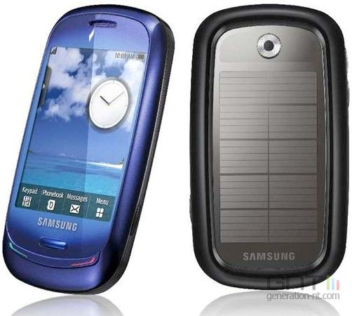 Samsung Blue Earth : mobile alimenté à l'énergie solaire