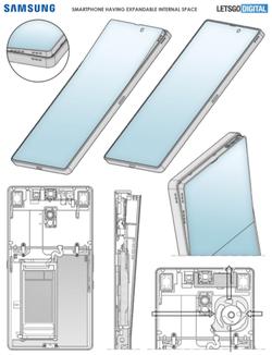 Samsung brevet smartphone flexible