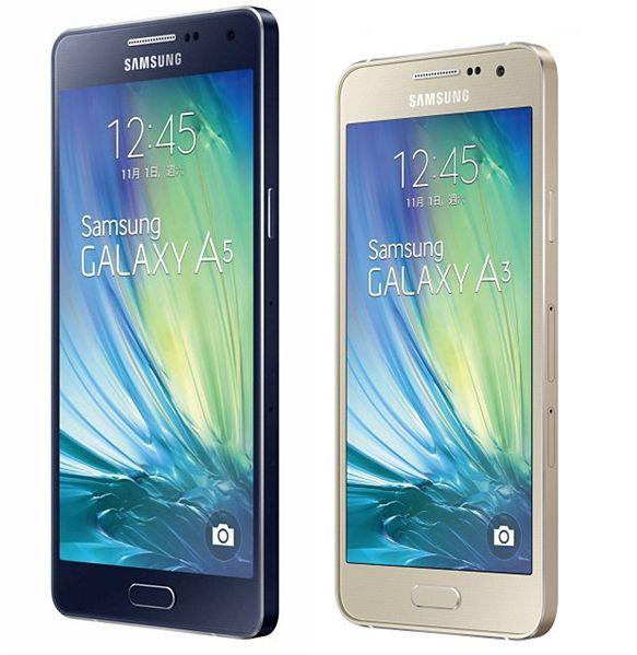 smartphones samsung galaxy a3 galaxy a5 disponibles en france. Black Bedroom Furniture Sets. Home Design Ideas