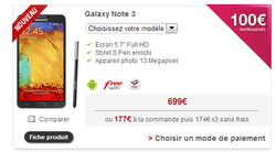 Samsung Galaxy Note 3 Free Mobile