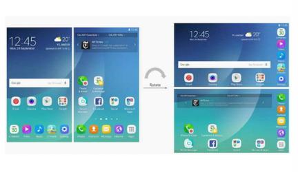 Samsung Galaxy X affichage