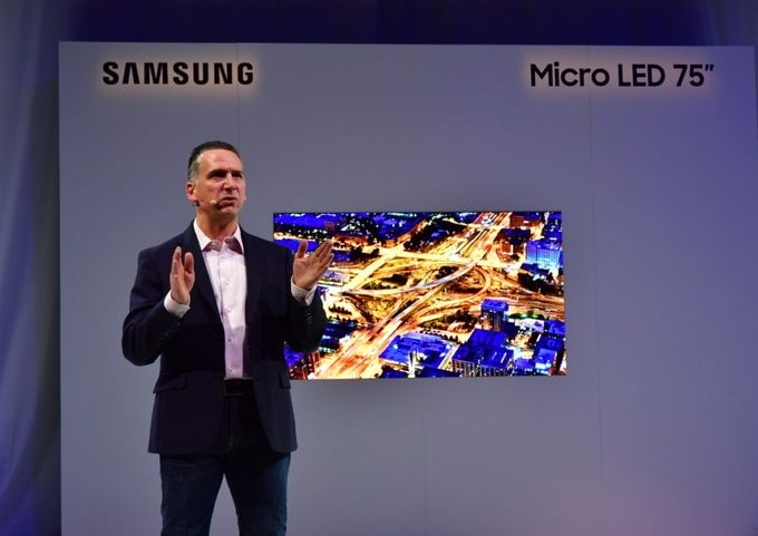 Samsung microLED 75 pouces CES