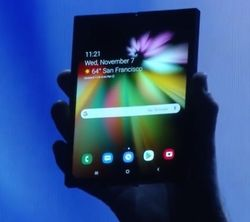 Samsung smartphone ecran repliable