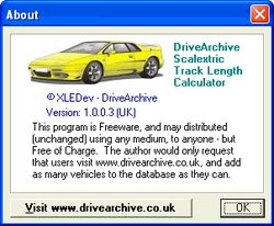 Scalextric Track Length Calculator screen 2