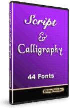 Script & Calligraphy Fonts : de nouvelles polices d'écriture