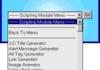 Scripting Modules : créer et personnaliser ses scripts