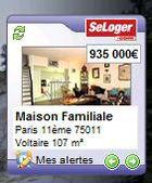 Gadget SeLoger.com