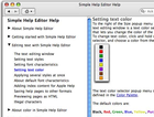 Simple Help Editor pour Macintosh