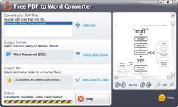 SmartSoft Free PDF to Word Converter screen 1