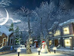 Snow Village 3D screen 3