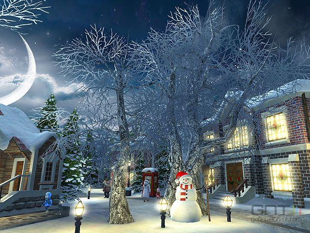 Snow village 3d screen 3 for Sfondi natale 3d